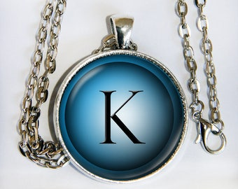BLUE HUES INITIAL necklace