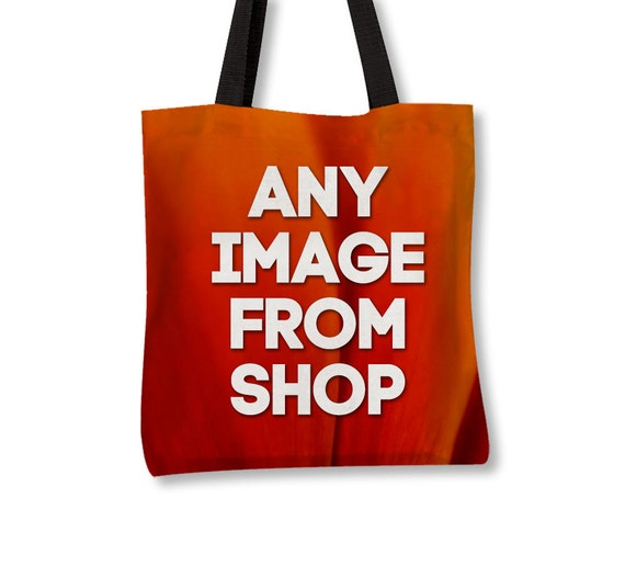 Photo Tote Bag, Custom Image From Shop, Canvas Tote, Market Bag, Gift For Her, Everyday Bags