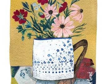 Floral Cup Print