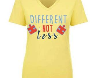 Different Not Less - Autism Awareness Shirt (Girls/Women)