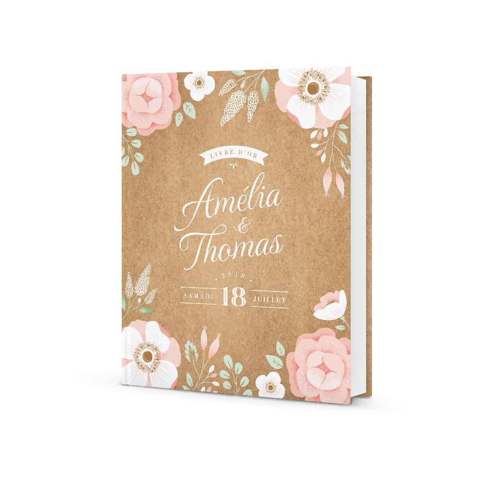livre d 39 or mariage personnalis ardoise fleurie mariage. Black Bedroom Furniture Sets. Home Design Ideas