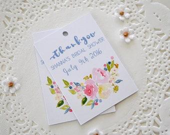 Bridal Shower Thank You Tags | Bridal Shower Gift Tags | Customized Thank You Tags | Custom Favor Tags | Set of 12