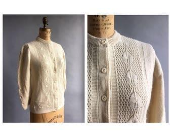 1970's Cream Knit Cardigan