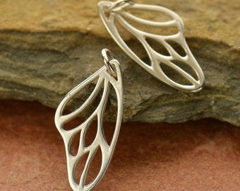 Sterling Silver Butterfly Wing Charm