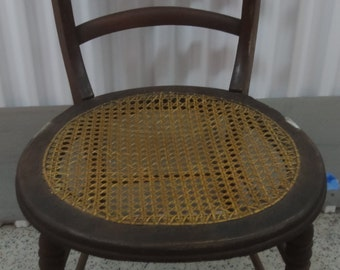 Vintage Cane Seat Chair/ Local pickup only/ No shipping