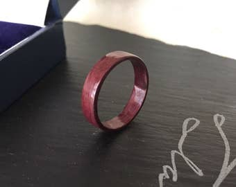 Handmade Purpleheart Bentwood Ring - Size 8.5