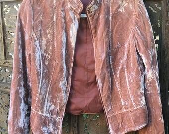 True Vintage Italian Gianni Bini Velvet Pink Jacket