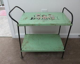 """Child's """"Little Miss Muffet"""" Tea Cart"""