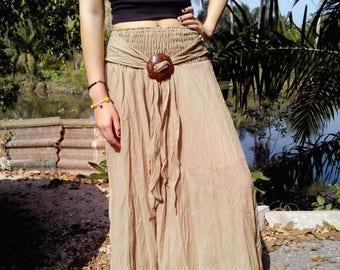Gipsy Skirt  Floaty Summer Buckle Prairie Gypsy  Beige