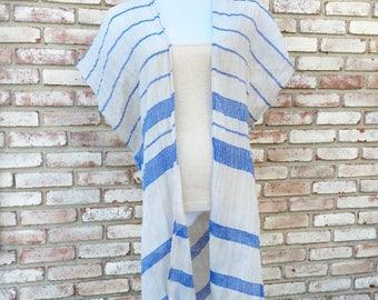 Cotton Kimono, Kimono Coverup, Beach Coverup, Bohemian Style, Handmade Kimono Cardigan, Boho Kimono, Summer Resort Wear, Boho Duster, Spring