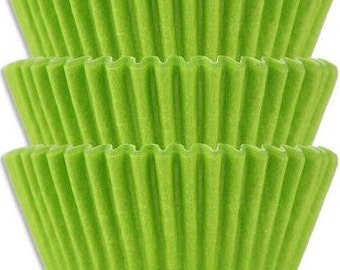 Lime Green Traditional Size Cupcake Liners - Soccer Theme - Sports Theme - Dinosaur - Science - Cupcakes - Versatile