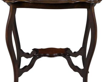 Antique Shaped Top Mahogany Accent Table