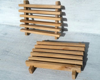 Wood Soap Dish, Soap Saver, Draining Wooden Soap Dish, Handmade Wood Soap Dish