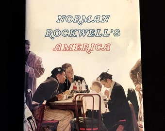 Norman Rockwell's America - 1975 Abrams 1st Ed HBDJ Oversize Fold Out Pages