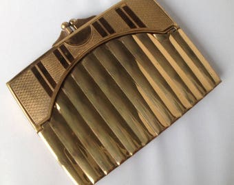 1920s Art Deco Gold Plated Cigarette Case.