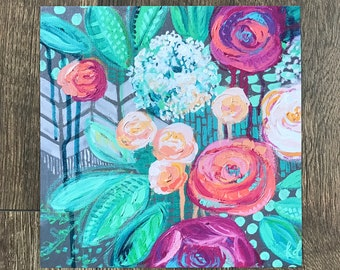 "Floral Giclee Print- ""Wintergreen Rose"""