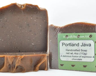 PORTLAND JAVA | COFFEE Chocolate Scented Soap | Handmade Soap | Handcrafted Soap | Artisan Soap | Gift Soap | Soap for Men| Stocking Stuffer