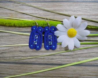 earrings / soutache technique / handmade (nr132)
