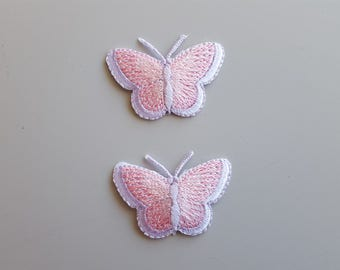 Pink Butterfly Applique Purple Butterfly Applique Butterfly Iron On Pink Embroidered