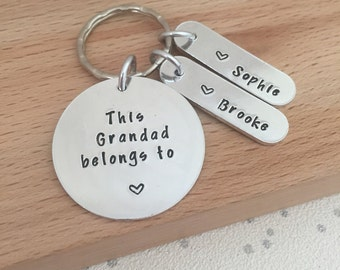 Grandad papa gifts, personalised grandad gift, gift for grandad, gifts for dad, personalised dad keyring, gifts for him, birthday present