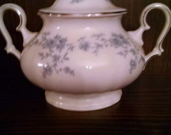 havilland blue garland sugar bowl