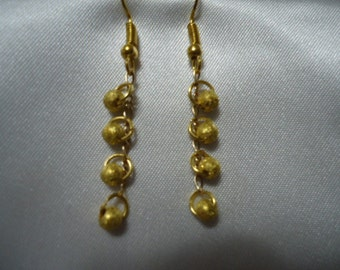Frosted Beads on a Figaro Chain Earrings