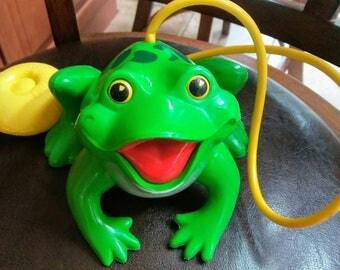 Vintage Fisher Price Frisky Frog #154