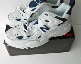 Vintage New Balance White Sneakers Cross Trainers Men's size 9 1/2 D