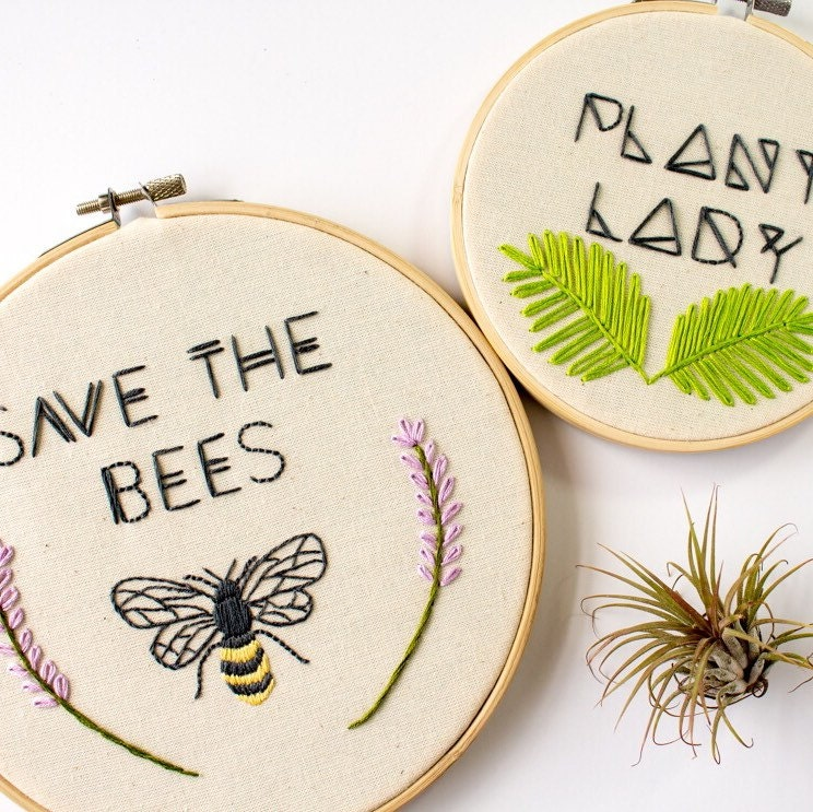 Plant lady embroidery gift for hostess
