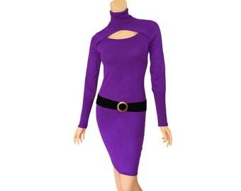 Purple + Black Sweater Dress