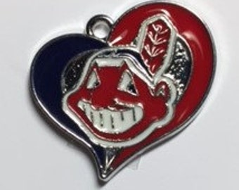 Cleveland Indians Heart Charm