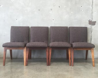 Set of Four Mid Century Chairs by Stanley Young for Glenn of California (CV1TEL)