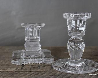 Vintage Glass Candlesticks