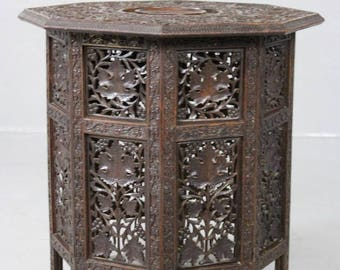 Carved Eastern Side Table