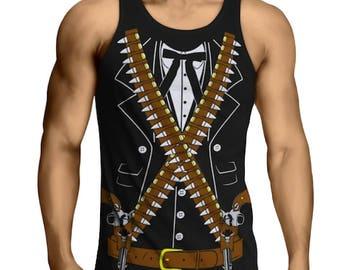Bandido Pistolero Cowboy Cinco de Mayo Party Tank Top T-Shirt