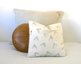 Hand Painted Organic Linen Cushion