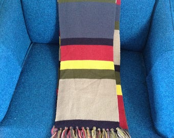 Dr. Who scarf   Fourth Doctor   Tom Baker   12 foot   acrylic yarn   licensed  BBC 1996   new old stock   cosplay   used, as is