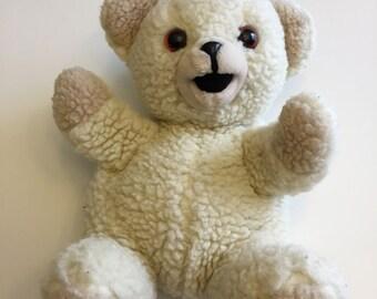 Snuggle Dryer Sheets Teddy Bear Hand Puppet Russ Berrie 1986