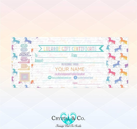 Unicorn Wallpaper Gift Certificate H.O. By CrystalAndCo On