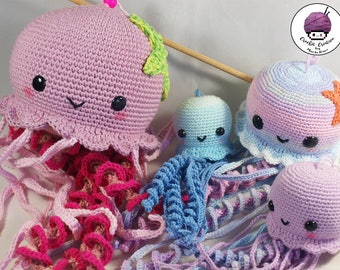PRE-ORDER / custom made jellyfish amigurumi (woven hand to crochet) different sizes and colors