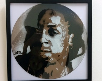 Lil Wayne Spray Painted Vinyl