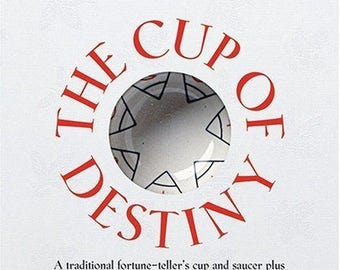 Cup of Destiny hand finished china cup & saucer for reading tea leaves, comes with book