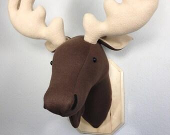 Faux moose head etsy - Fake stuffed moose head ...