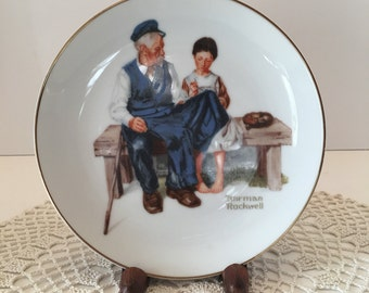 Norman Rockwell Collectible Decorative Plate ~ The Lighthouse Keepers Daughter~ 1984 ~ The Norman Rockwell Museum Inc  ~Wall or Cabinet