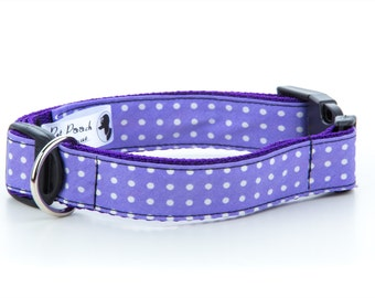 Purple Polka Dot Collar OR Lead