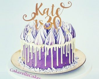 Birthday cake topper Etsy