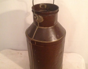 Vintage Metal Tin solder raw milk dairy Deco Vintage varnish
