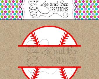Baseball Split Monogram