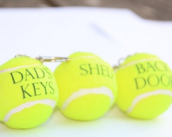 Personalised Tennis Ball Key Chains