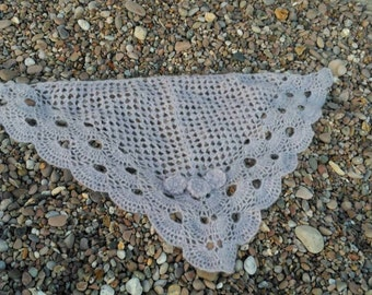 Mohair flower shawl